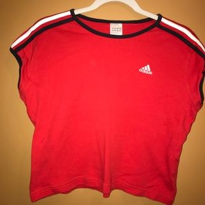 Vintage Adidas Red White and Blue T-Shirt